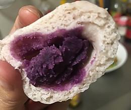 奶香紫薯包的做法