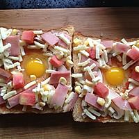 吐司太阳蛋披萨的做法图解5