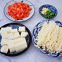 番茄金针菇豆腐汤的做法图解2
