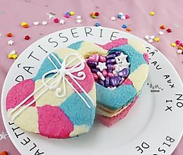 #七夕情人节# 创意心形盒子饼干的做法