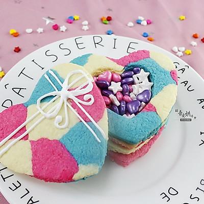 #七夕情人节# 创意心形盒子饼干
