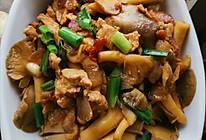袖珍菇炒肉的做法