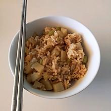 土豆芹菜虾仁焖饭