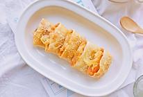 #快手又营养,我家的冬日必备菜品#红薯芝士派—手抓饼版的做法
