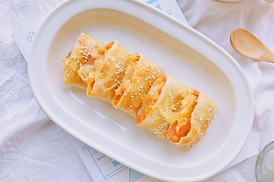 红薯芝士派—手抓饼版