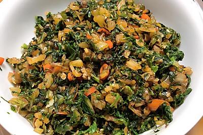 湖南下饭菜烫菜(积菜子)腌制/炒菜——妈妈做菜de味道