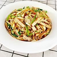 青椒肉丝炒干豆腐的做法图解9