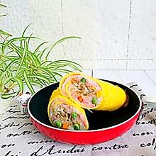 五彩米饭蛋皮卷#福临门创意米厨#
