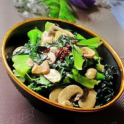 椒油口蘑小油菜