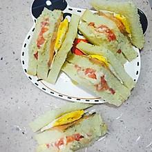 简单早餐:榴莲三文鱼三明治