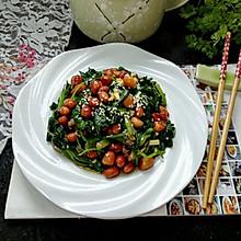#爽口凉菜,开胃一夏!#菠菜拌花生米