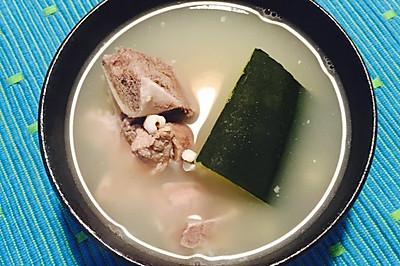 老陈皮冬瓜薏米煲扇骨