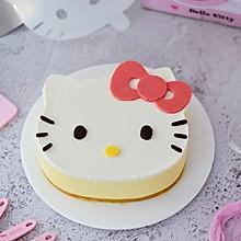 8寸KT猫芒果慕斯蛋糕