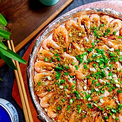 铁板蒜蓉基围虾