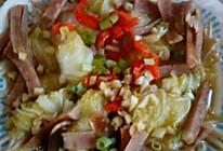 娃娃菜卷金针菇的做法