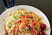 火腿蔬菜炒面的做法