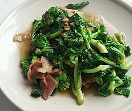 腊肉炒菜苔的做法
