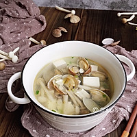 #520,美食撩动TA的心!#花蛤豆腐菇菇汤的做法图解13