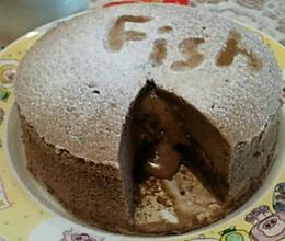 巧克力爆浆蛋糕6寸的做法