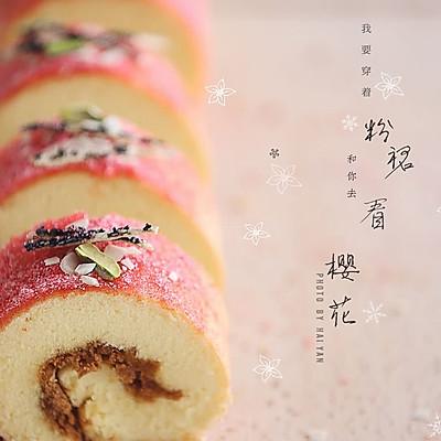 樱花肉松蛋糕卷