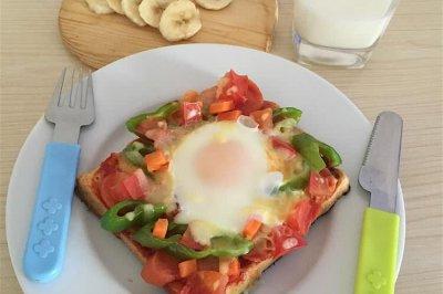 早餐吐司披萨(微波炉版)