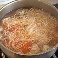 西红柿豆芽肉丸汤的做法图解8