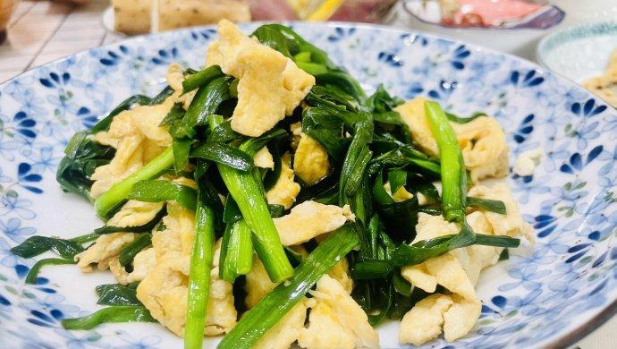韭菜鸡蛋饼(韭菜炒蛋)二种做法