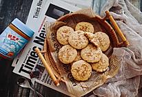 芝麻花生奶油饼#四季宝蓝小罐#的做法
