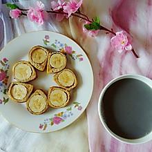 香蕉吐司卷和芝麻黑豆浆#美的早安豆浆机#