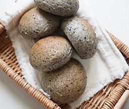 黑芝麻全麦餐包 100%纯麦的做法