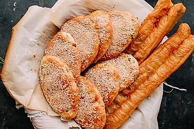 正宗的老上海油酥大饼 | 烤出来的金黄酥脆