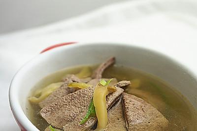 榨菜猪肝汤-乌江榨菜