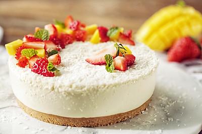 椰子慕斯水果蛋糕,再也没有比这更香浓的椰香甜品了