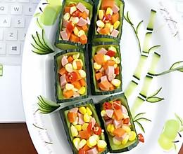 竹林深处有人家彩色午餐黄瓜拼盘的做法