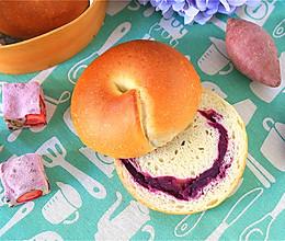 紫薯贝果的做法