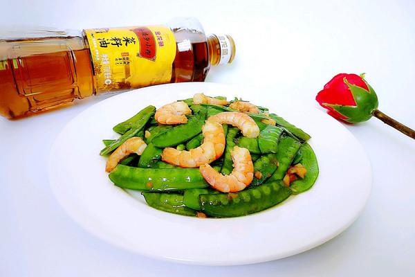 河虾炒荷兰豆#金龙鱼外婆乡小榨菜籽油  最强家乡菜#的做法