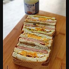 #丘比三明治#火腿三明治