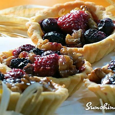 蓝莓核桃派