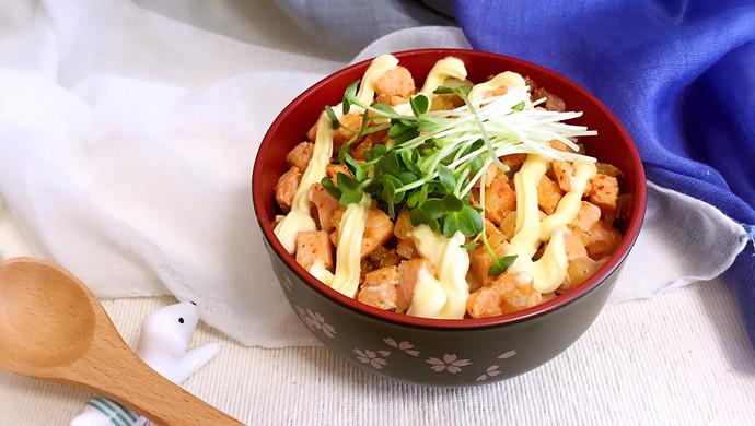 【新品】日式美乃滋三文鱼盖饭