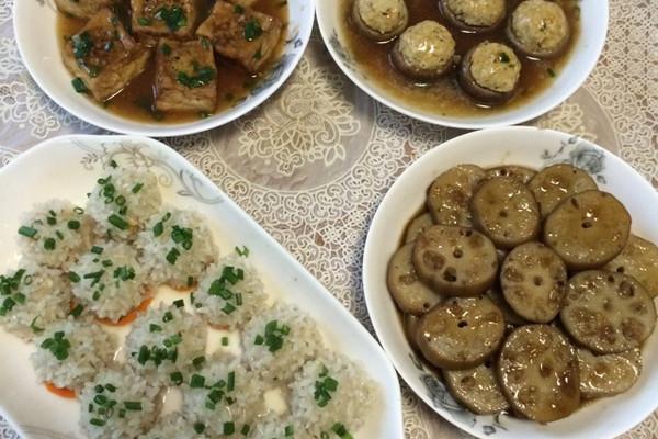 豆腐肉末香菇酿的做法