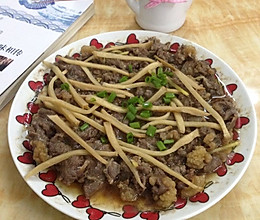 头菜蒸牛肉的做法