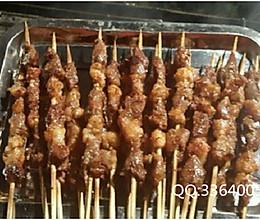 羊肉串的烧烤店切法和腌制的做法