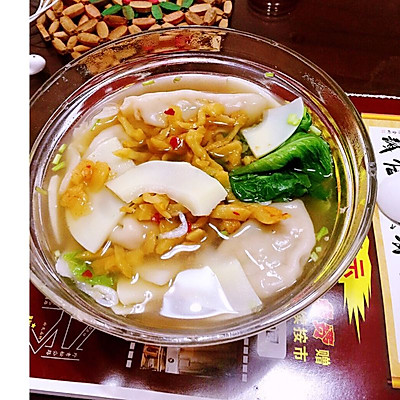 酸笋水饺汤
