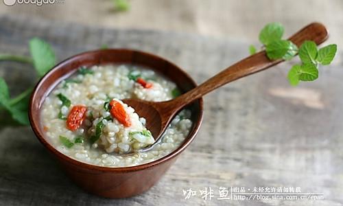 薄荷糙米粥的做法