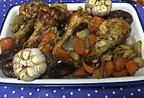 蒜香蔬菜烤鸡腿的做法