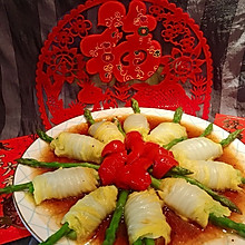 浇汁白菜素菜卷