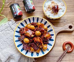 #福气年夜菜#年夜菜:鹌鹑蛋红烧排骨 无需炒糖色的做法
