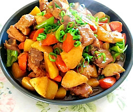 土豆胡萝卜烧肋排的做法