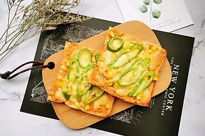 #花10分钟,做一道菜!#快手早餐-吐司披萨