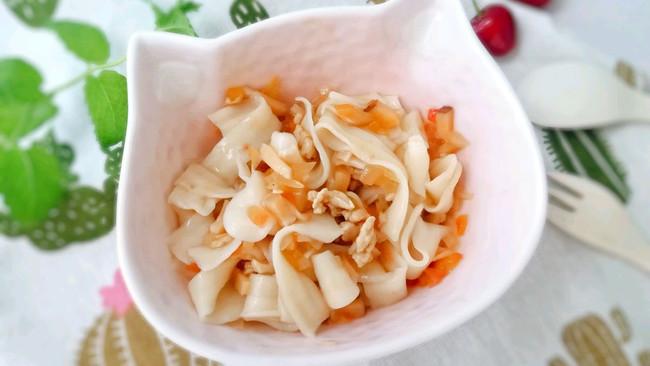 18M+爽滑抻面片(香菇猪肉卤的打卤面):宝宝辅食营养食谱菜的做法